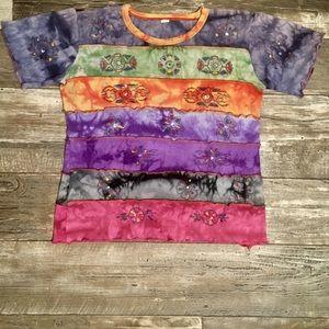 Vintage Boho Multicolor Crop Top